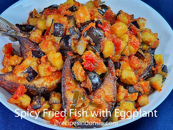 Spicy Fried Fish with Eggplant