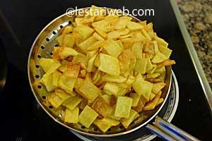 drain potatoes