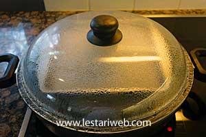 heat in steamer