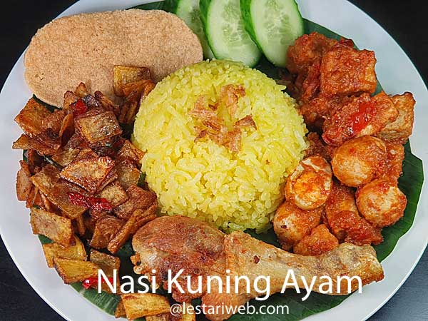 Chicken-Turmeric Mixed Rice