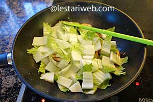 adding Chinese cabbage