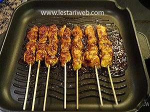 grilling satay