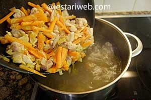 chicken & vegies mixture