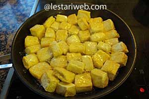 frying tofu