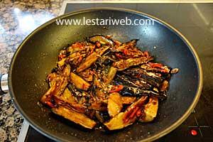 Eggplants in sweet soy sauce