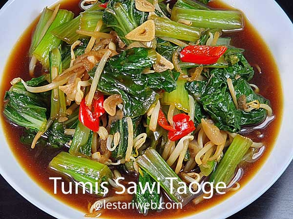 Choy Sum & Bean Sprouts Stir-Fry