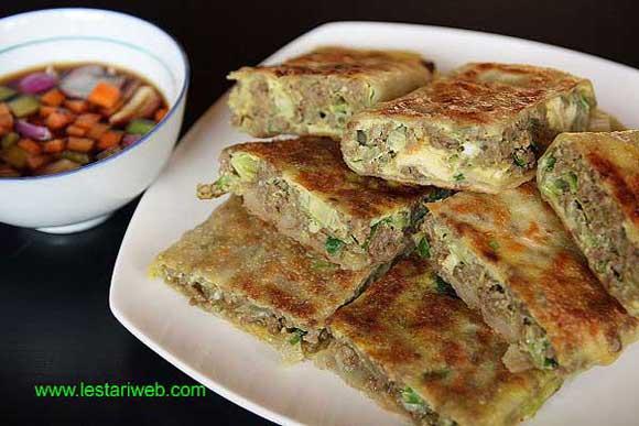 Javanese Savory Meat Pancake
