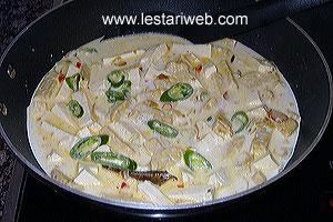 Tofu & Tempe in Coconut Sauce