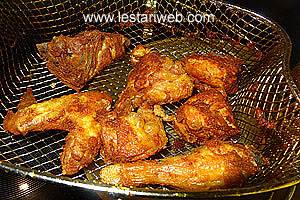 deep-fry the chicken
