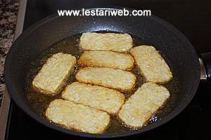 deep-frying tempeh