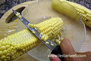 cut off the kernels