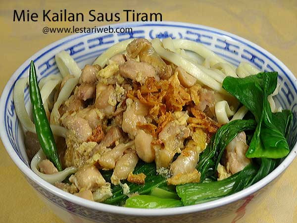 Noodle Kailan with Oyster Sauce