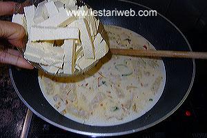 adding tofu