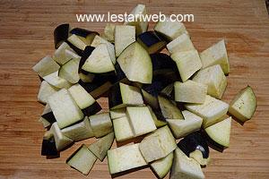 cut eggplant, aubergines