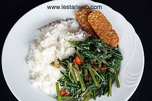 fried water spinach