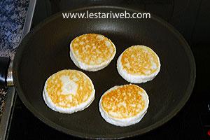golden brown coconut pancakes