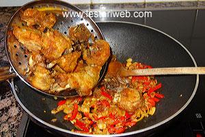add fried chicken