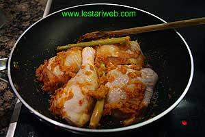 cook the chicken until white