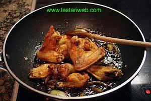 add chicken wings