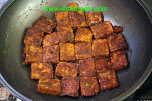 spicy and sweet tempeh is ready