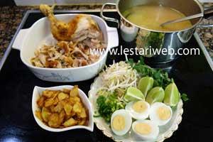 serving chicken soup