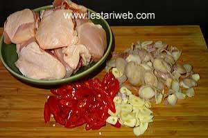 sliced ingredients