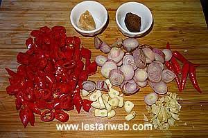 prepare spicy ingredients