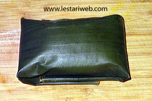 ready wrapped banana leaf