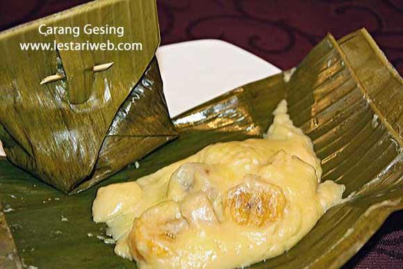 Steamed Banana in Coconut Milk