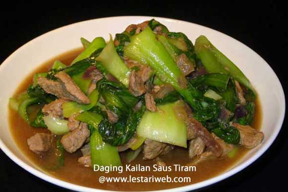 Beef Pak Coy With Oyster Sauce