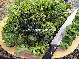 cut curley kale