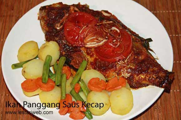 Baked Fish in Sweet Soy Sauce