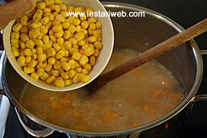 adding corn