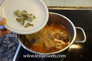 curry leaves & thick coconut milk